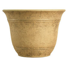 Hc Companies Sierra 10 Inch Round Resin Flower Garden Planter Pot, Arizona Sand