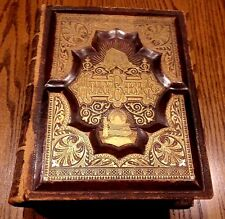 Vintage Leather Bound Large Family Bible 1888