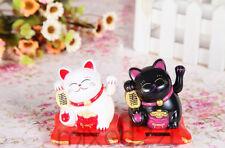Solarbetriebene Glückskatze Winkekatze Maneki Neko Glücksbringer Katze Feng Shui