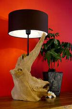58cm madera de combustible Lámpara mesa noche pie