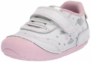 Stride Rite Girls Soft Motion Adalyn Athletic Sneaker White/Silver 6 Toddler