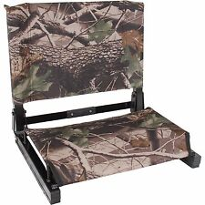 Camo Game Day Folding Stadium Seat Back Chair Cushion Bleacher Sport Seating