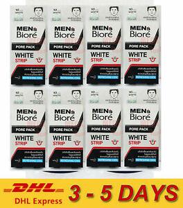 8 x Biore Men Pore Pack White Strip Refreshing Cool Blackheads 10 Strip Express
