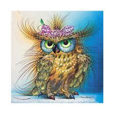 DIY 5D Diamond Embroidery Owl Animal Rhinestone Painting Cross Stitch Home TN2F