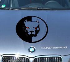 Pitbull auto pegatinas cartattoo, 30 cm red Eyes m2 en color que deseas
