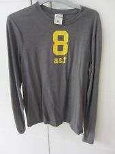 Boys Grey Abercrombie Long Sleeved Top for Age 12 approx