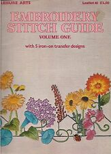 VINTAGE EMBROIDERY STITCH GUIDE VOLUME ONE--LEISURE ARTS--1975
