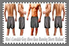 Men`s Lonsdale Grey Above Knee Running Shorts Medium pos Gay Int