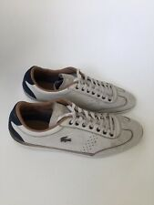 LACOSTE MISANO LEATHER TRAINERS SIZE 10