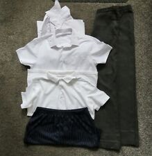 Boys School Bundle Trousers Shirts Shorts & Gym Short Grey White Navy 13-14 Year