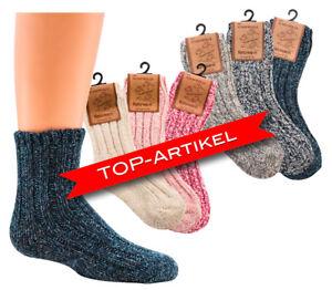 Norweger-Socken mit Wolle für Kinder, Thermosocken