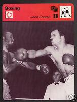 JOHN CONTEH British Boxing Boxer vs Lonnie Bennett 1978 SPORTSCASTER CARD 41-10