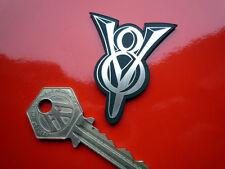 V8 Self Adhesive Car Badge Ford Ferrari MG Rover Triumph Power Engine Hot Rod