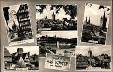 Bad Wimpfen Baden-Württemberg 1963 più mappa immagine TORRE BLU Neckar ponte Neckar