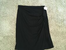 NWT MICHAEL KORS  Black Drape RUFFLE Straight SKIRT size 6  NEW  H88