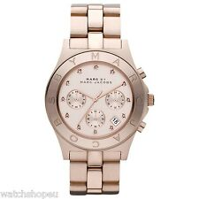 NEW MARC JACOBS MBM3102 ROSE GOLD LADIES BLADE WATCH - 2 YEAR WARRANTY