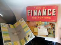 Vintage Game of Finance and Fortune 1934 Parker Bros.