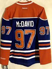 Reebok Women's Premier NHL Jersey Edmonton OIlers Connor McDavid Blue sz M