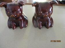 Two Hull USA Pottery Money Box Piglets
