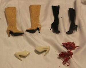 """Lot 4 Prs Doll SHOES & Boot 16"""" Fashion Doll Tyler Wentworth Gene Marshall Heels"""