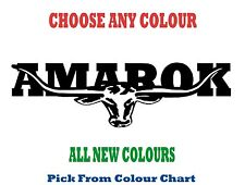 VW AMAROK 300mm LONGHORN DECAL *CHOICE OF COLOURS*  RMW STICKER