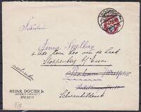 DR Mi Nr. 376 EF auf Brief Bochum - Stoppenberg 22.04.1926, Nothilfe Wappen