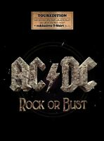 AC/DC - ROCK OR BUST  CD + T-SHIRT (SIZE L) NEUF