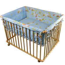 """Honey Bee"""" Parc bébé de luxe parc enfant 100x75cm parc de bebe bleu clair"""