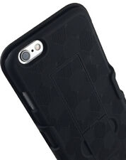 BLACK KICKSTAND HARD SHELL CASE + BELT CLIP HOLSTER FOR iPHONE 6 PLUS, 6s PLUS