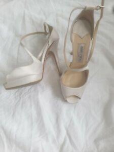Jimmy Choo | wedding |White Satin Shoes |  Heels | Women | Size 37 - 4 UK