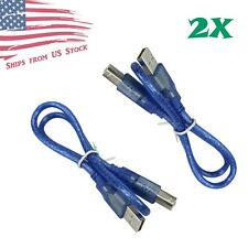 2Pcs 1 FT USB 2.0 Cable Type A to B Male for Arduino Uno and MEGA2560 USA