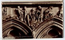 Salisbury, Wiltshire, England Real Photo Postcard - Sculpture in Chapter House