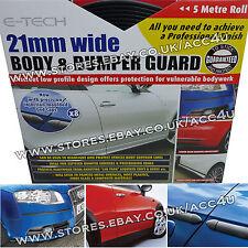 E-Tech 21 mm 5 M Nero Carrozzeria Paraurti & Guardia Protettore stampaggio Striscia + Tappi