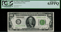 1928A $100 Federal Reserve Note - Chicago FR. 2151-G - PCGS 63PPQ