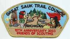 CSP - GREAT SAUK TRAIL COUNCIL - SA-7 - 2003 FOS - MERGED IN 2012