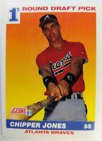1991 91 Score Chipper Jones Rookie RC #671, Draft Pick Atlanta Braves Baseball
