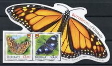 Kiribati 2015 MNH Butterflies of Kiribati 2v MS Insects Monarch Butterfly Stamps