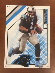 CAM NEWTON Carolina Panthers w/ Logo 2018 NFL Fathead Mini / Tradeable #10 NEW