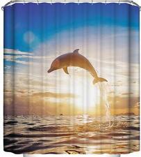 Dolphin Nuoto Jumping con impostazione sole tenda da doccia bagno poliestere