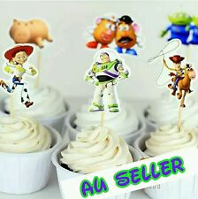 24 X TOY STORY CUPCAKE toppers pick / BUZZLIGHTYEAR / WOODY party supplies