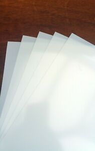 PACK OF 5 BLANK A6 MYLAR STENCIL SHEETS 190 micron Art mask sheets