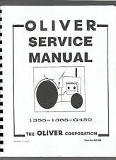 Oliver 1355 1365 1370 Tractor Service Shop Manual G-450