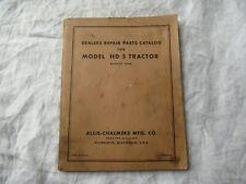 Allis-Chalmers HD5 HD 5 tractor parts catalog manual