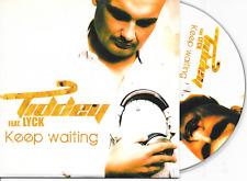 TIDDEY ft LICK - Keep waiting CD SINGLE 6TR Trance Dutch Cardsleeve 2011 RARE!