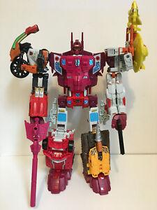 Transformers Combiner Wars Computron Technobots Hasbro Complete w Reprolabels