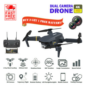 Dual Camera 4K HD Drone WiFi FPV RC Foldable Altitude Hold RC Quadcopter