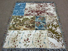 Colonial Patchwork Tapestry Afghan Throw