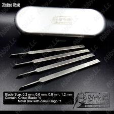 Craft Car Gundam Mobile motor Model Tool Chisel 4 blades Set w/ Zaku 2 Metal Box
