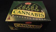 CANNABIS 12 Boxes of 10 = 120 HEM Incense Cones Bulk Case Retail Display