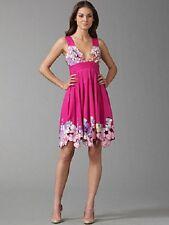 NWT $495 CATHERINE MALANDRINO PINK SAMBALA CUT-OUT EMBROIDERY COTTON DRESS  6